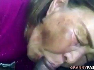 Asian Granny Deepthroats Black Cock In The Car