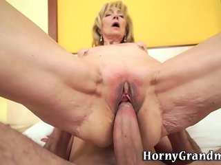 Puny knockers grandma jizzed
