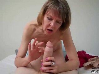 clubtug-Naughty granny POV hand job