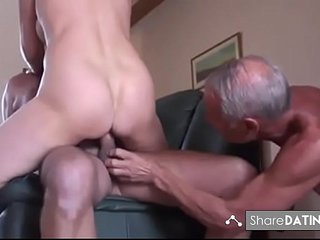 Amateur mature cuckold three way