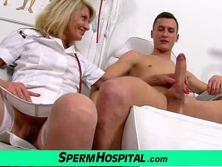Uniform mother with boy cum on hooters feat. milf Ivona