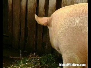 Brunette Woman Farmer Hairy Cunt Barn Fucked