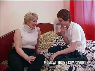 BBW Mature Mother Entices Sons Mate