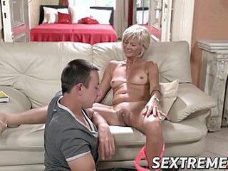 Blonde granny needs a youthful hard shaft