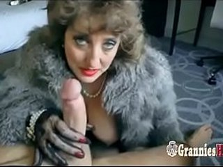 Classy Granny Brunette Likes To Suck Big Young Dick