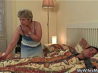 Cock-hungry granny smallish her son-in-law
