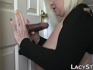 Granny takes big dick up in her anus