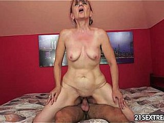 Granny Nanney has lust for a youthful hard-on
