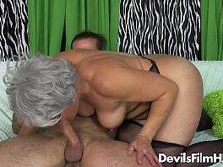 Granny has a big hooters