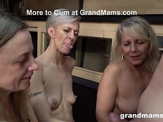 Trio Mature Cougars Engulf Guiltless Fellow