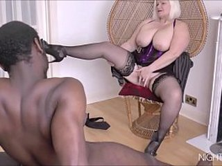 Granny pussy boned hard by a black dick