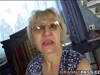Hungarian Granny Smallish Her Son