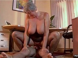 Busty granny wants youthfull hard-on