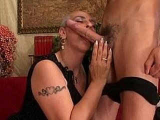 Granny First Huge Cock Assfuck