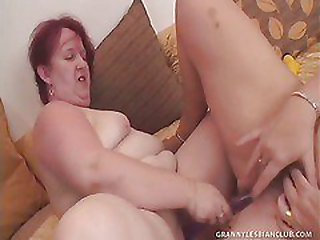 Grey-haired Granny Lezzies Get Off with Sex Fucktoys