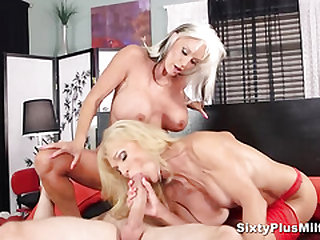 2 bigtitted grannies fucked by a guy