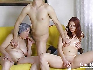 OmaHoteL Nude Couple and Granny Fucktoys 3 way