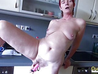 OldNanny Jizz-swapping and toying at home