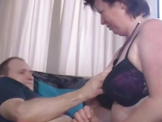 Chubby granny with saggy arched fucking dirty in provocative pornography clip