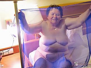 Omageil supplementary old nonprofessional grandmas enjoying