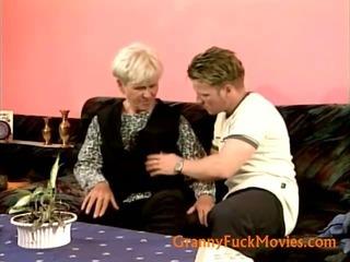Granny seduced a teenager fellow
