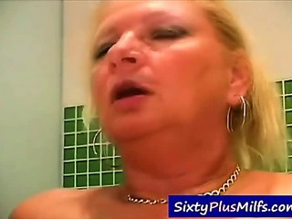See this fabulous grandma screwing with a junior stud
