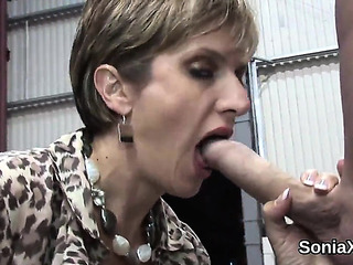 Unfaithful English Older Girl Sonia Displays Her Biggest Bent